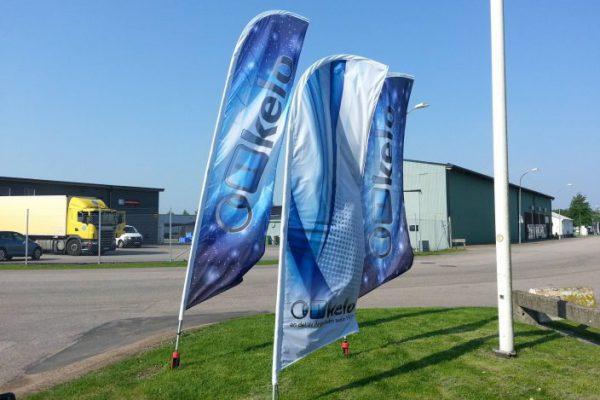 Beachflaggor med Kelotryck