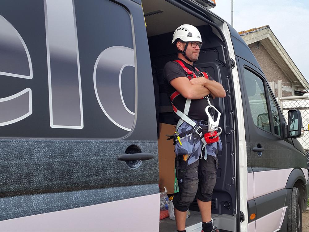Service, montering, skyddsutrustning