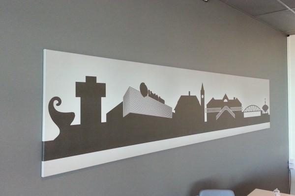 4-färgsprint Ängelholms stadsbild