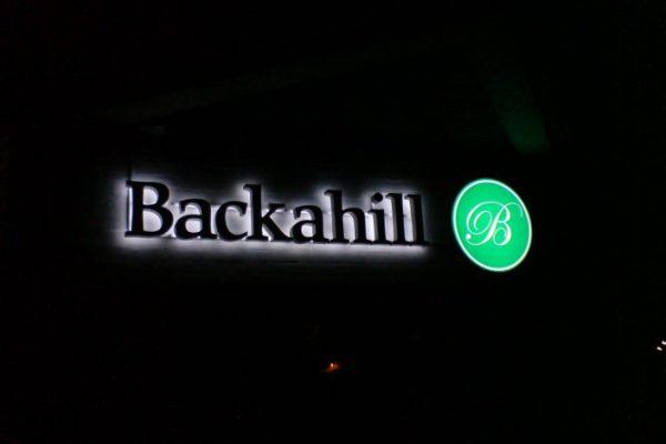 Ljus/LED/Profilskyltar svart med backlight