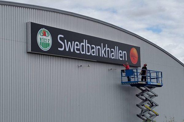 Ljus/LED/Profilskylt Swedbankshallen