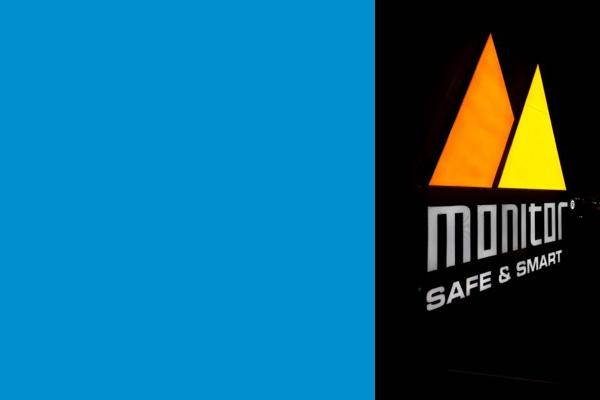 LED-skylt Monitor gul, svart, orange, vit
